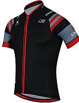 Esportivo Camisa para Ciclismo Unissexo Manga Curta MotoRespirável / Secagem Rápida / Design Anatômico / Resistente Raios Ultravioleta /