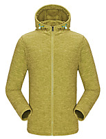 KORAMAN Men's Outdoor Sweatshirt Full-zip Drawsrting Sport Running Hooded Fleece Jacket