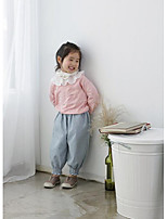 Girl's Casual/Daily Solid PantsCotton Spring / Fall Pink / Gray