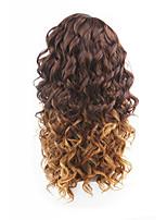 новый стиль коричневые волосы фронта шнурка свободная волна синтетических волос парики шнурка