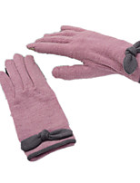 Wolle Cashmere Touch-Screen-Handschuhe (rosa lila)