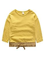 Jungen T-Shirt-Lässig/Alltäglich einfarbig Baumwolle Herbst Weiß / Gelb