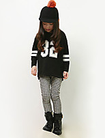 Girl's Casual/Daily Houndstooth Pants / LeggingsCotton / Spandex Winter White