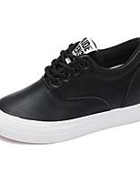 Damen-Sneaker-Outddor Lässig Sportlich-Kunstleder-Keilabsatz-Andere-Schwarz Weiß