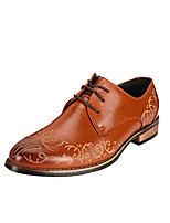 Men's Oxfords Spring / Fall Comfort Leather Casual Low Heel Others / Lace-up Black / Brown / Red Others