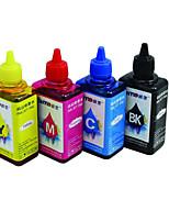 encre d'imprimante (4 couleurs vente groupée noir 100ml rouge 100ml jaune 100ml 100ml bleu)
