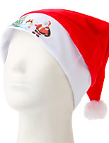 White Side Printing Christmas Hat Santa Claus And The Tree