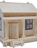 Пазлы Деревянные пазлы Строительные блоки DIY игрушки дом 1 Дерево Со стразами