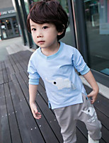 Boy's Casual/Daily Print Tee / Pants / Clothing SetCotton Spring / Fall Blue / Pink