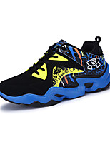 Men's Sneakers Spring / Fall Comfort PU Athletic / Casual Flat Heel Lace-up Blue / Black and White / Orange Basketball
