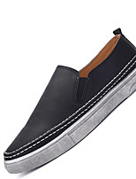 Men's Loafers & Slip-Ons Spring / Summer / Fall / Winter Comfort Casual Flat Heel Slip-on Black / Brown / Gray Others