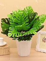 12 Heads/Bouquet Silk Monstera  Fake Plant Household Decorations Plant Wall