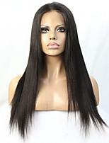 девственные бразильские волосы естественный цвет яки прямой бесклеевой парик фронта шнурка