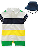 Baby Casual/Daily Striped Clothing Set-Cotton-Summer-White