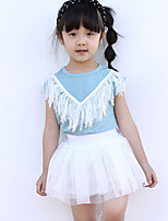 Girl's Casual/Daily Solid Dress / Clothing SetOthers Summer Blue / Pink