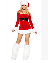 Christmas Costume/Holiday Halloween Costumes Red Solid Skirt / Leg Warmers / Hats Christmas Female
