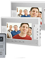 MOUNTAINONE  7 Inch TFT Touch Screen Color LCD Video Door Phone Wired Video Intercom 2 Monitor Doorbell Intercom system