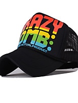 Women Summer Casual Color Alphabet Printing Breathable Net Cap Baseball Travel Dome Baseball Outdoor Hip-Hop Sun Hat