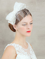 Wedding Veil One-tier Blusher Veils Raw Edge Lace
