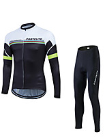 Fastcute® Cycling Jersey with Tights Men's Long Sleeve BikeBreathable / Quick Dry / Ultraviolet Resistant / Compression / 3D Pad /