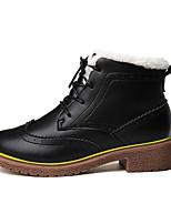 Черный / Коричневый-Мужской-На каждый день-Ткань-На плоской подошве-Удобная обувь-Ботинки