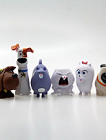 The Secret Life of Pets Decoration PVC 5cm Anime Action Figures Model Toys Doll Toy 1set