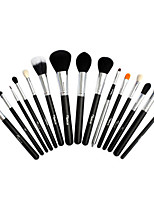 15 Makeup Brushes Set Goat Hair Professional / Portable Wood Face / Eye / Lip