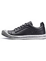 Men's Flats Spring / Fall Comfort PU Casual Flat Heel Others / Lace-up Black / White Others