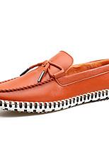 Men's Loafers & Slip-Ons Casual Warm Shoes Flat Heel Slip-on Black / Brown /Orange Walking Shoes EU39-43