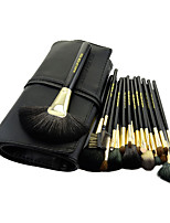 20 Makeup Brushes Set Goat Hair Professional / Portable Wood Face / Eye / Lip Black