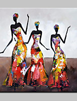 Hand Painted Fashion Sexy Girl Oil Paintings On Canvas Modern Wall Art Picture For Home Decoration With Stretched Frame Ready To Hang
