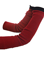 двойная перчатка женщин (50см ржавый красный)