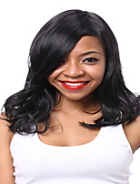 длинные волнистые волосы черного цвета синтетические парики для женщин