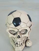 1шт Хэллоуин реквизита танцы украшения скелет головы пепельница украшения