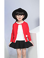 Girl's Casual/Daily Solid Sweater & CardiganWool Winter / Spring / Fall Red