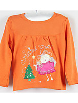 Baby Casual/Daily Print Blouse-Cotton-Summer / Fall-Orange / Red