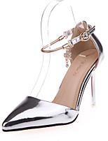 Розовый / Серебристый / Золотистый-Женский-На каждый день-Полиуретан-На низком каблуке-Удобная обувь-Сандалии