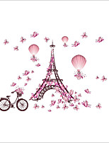 Architecture / Fashion / Shapes Wall Stickers Plane Wall Stickers Decorative Wall Stickers,PVC MaterialWashable / Removable /