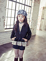 Girl's Casual/Daily Solid Jacket & CoatPolyester Spring / Fall Black