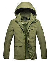 Hiking Softshell Jacket Men's Thermal / Warm / Wearable Winter Terylene Green / Blue / Army Green  Camping / Hiking
