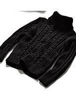 Boy's Casual/Daily Solid Sweater & CardiganCotton Winter / Spring / Fall Black / Gray