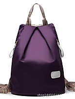 Casual Backpack Women Nylon Purple Blue Red Black Fuchsia