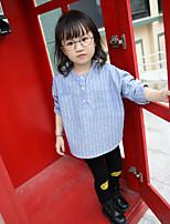 Menina de Blusa,Casual Listrado Algodão Primavera / Outono Azul