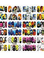 10 Nail Art Sticker Autocolantes de Unhas 3D maquiagem Cosméticos Prego Design Arte