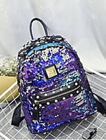 Casual Outdoor Backpack Women PU Black Multi-color