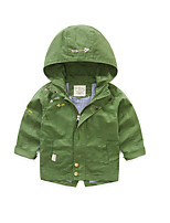Boy's Casual/Daily Solid Trench CoatCotton Spring / Fall Black / Green