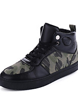 Men's Sneakers Shoes Bootie PU Outdoor / Athletic Flat Heel Lace-up Black / White / Dark Green Basketball EU39-43