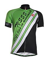 Esportivo Camisa para Ciclismo Homens Manga Curta MotoRespirável / Secagem Rápida / Zíper Frontal / Vestível / Tecido Ultra Leve / Macio