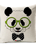 Polyester Decorative Cushion Pillow Cover Print Animal Panda Sofa Home Decor 45x45cm