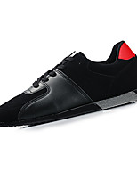 Men's Sneakers Spring Fall Comfort PU Casual Flat Heel Lace-up Black Blue Black and Red Black and White